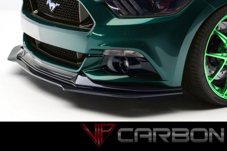 Carbon Fiber GT Front Splitter Ford Mustang 2015-2018 by VIP